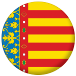 Valencia Flag 25mm Flat Back.